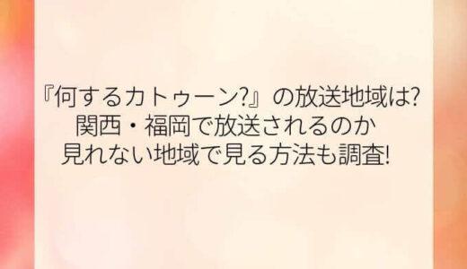 何するカトゥーン?の放送地域は?関西・福岡で放送されるのか見れない地域で見る方法も調査!