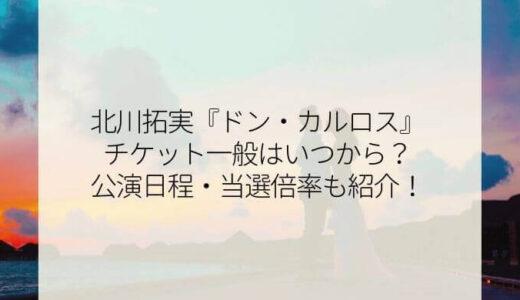 北川拓実『ドン・カルロス』チケット一般はいつから?公演日程・当選倍率も紹介!